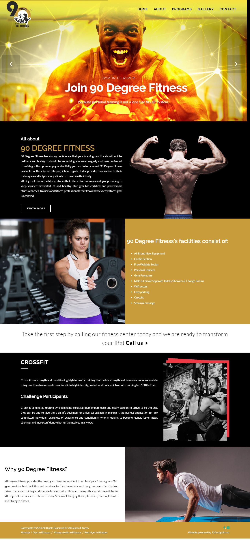 website for gym