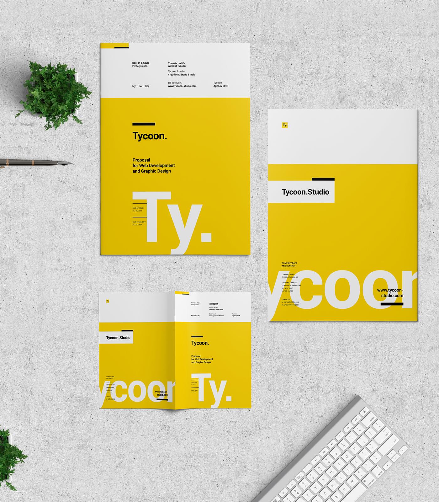 proposal design tycoon series on behance