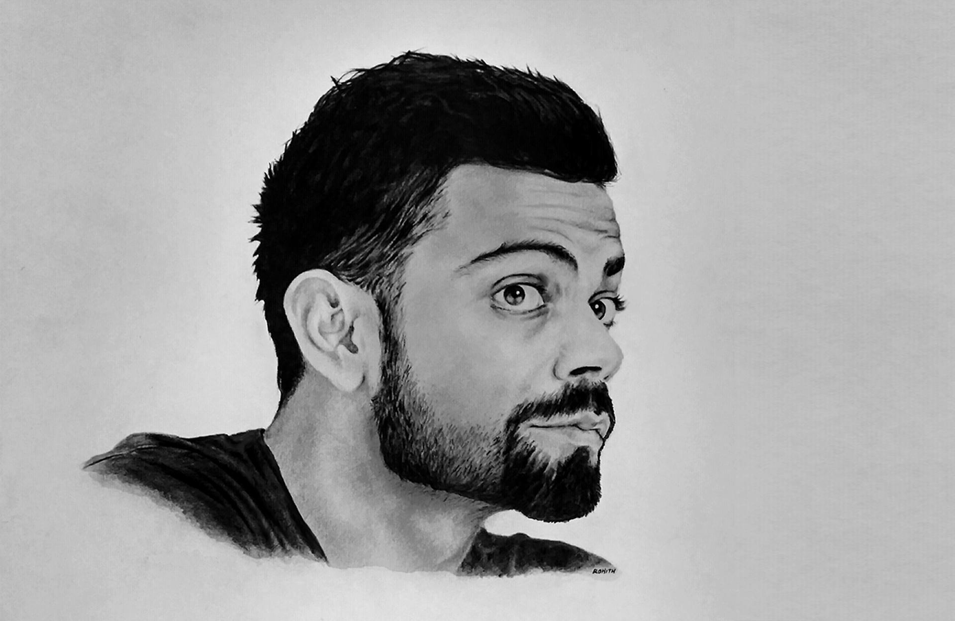 Pencil Sketching Virat Kohli On Behance