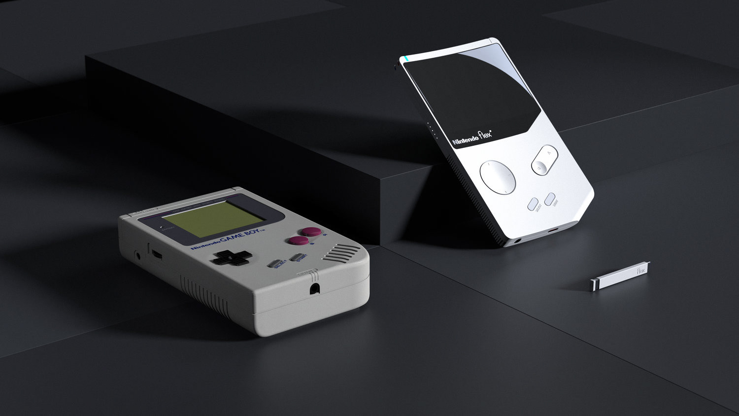 What if 1989 Game Boy was redesigned, introducing the Nintendo Flex