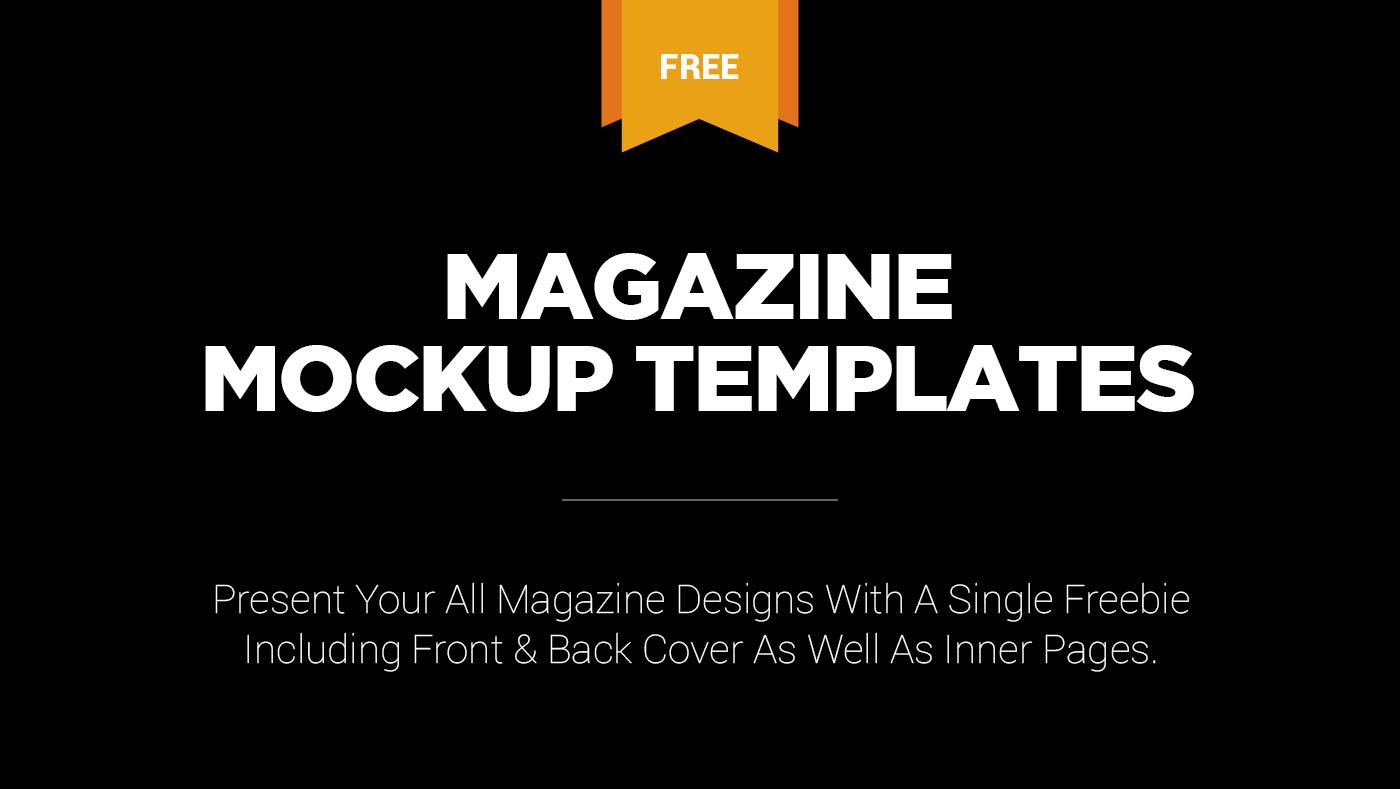 3 free magazine mockup templates on behance