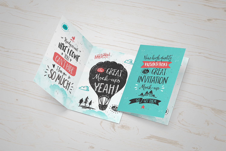 Invitation / Greeting Card Mock-Up - FREEBIE on Behance