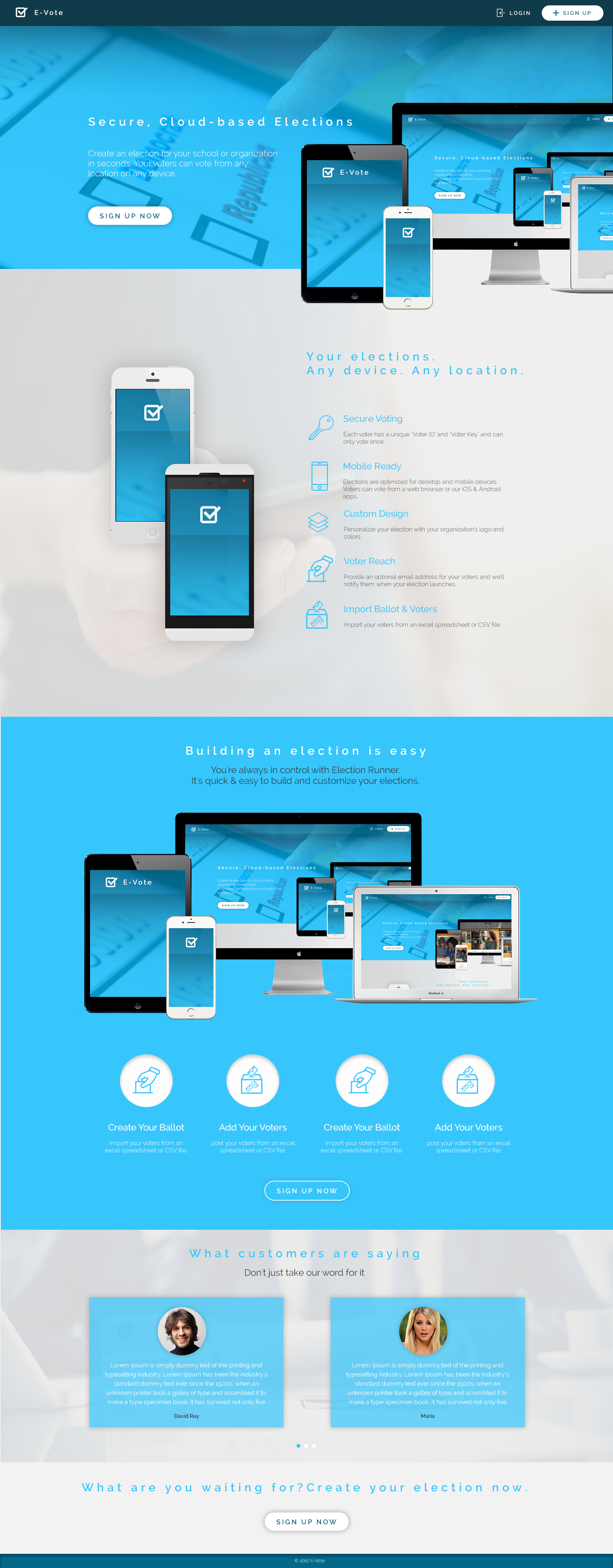 E-vote | Web template | Online voting on Behance