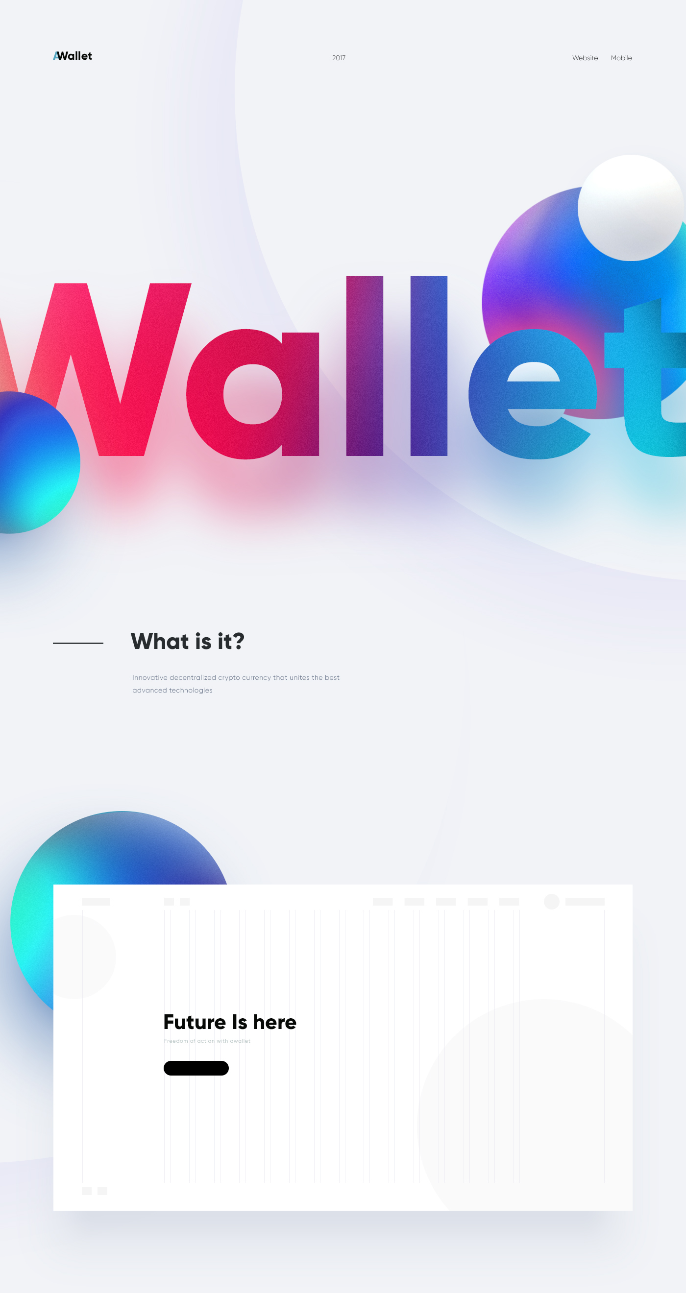 Website For Crypto Wallet On Behance