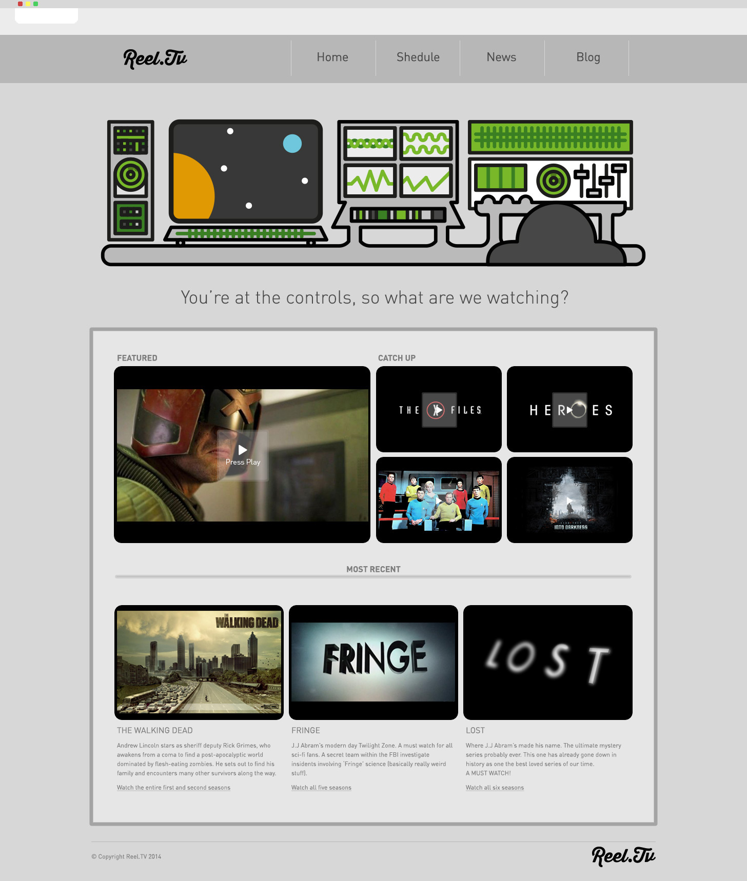 Jack Gill Design - Reel.TV : Website Skin
