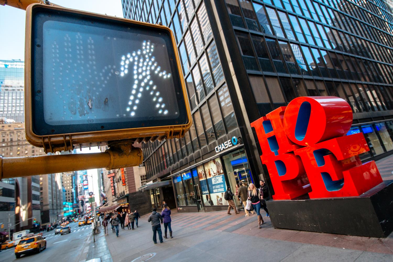 New York City Hope Sign