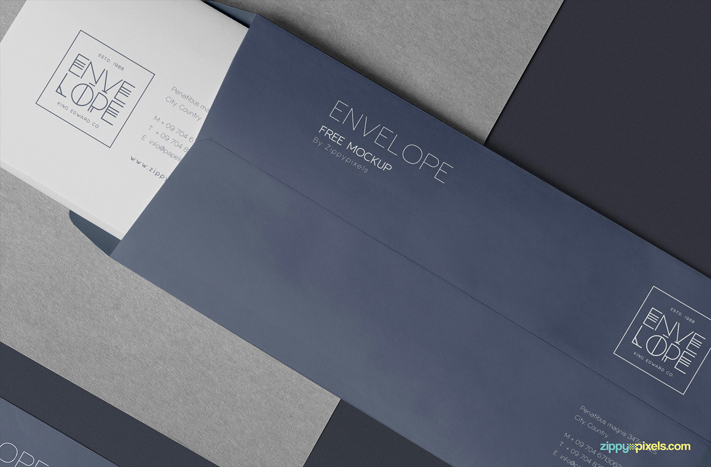 Please Click Here To Download This Free Envelope Mockup PSD
