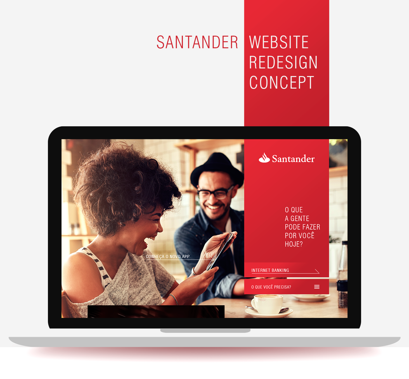 Santander Website Redesign Concept on Behance