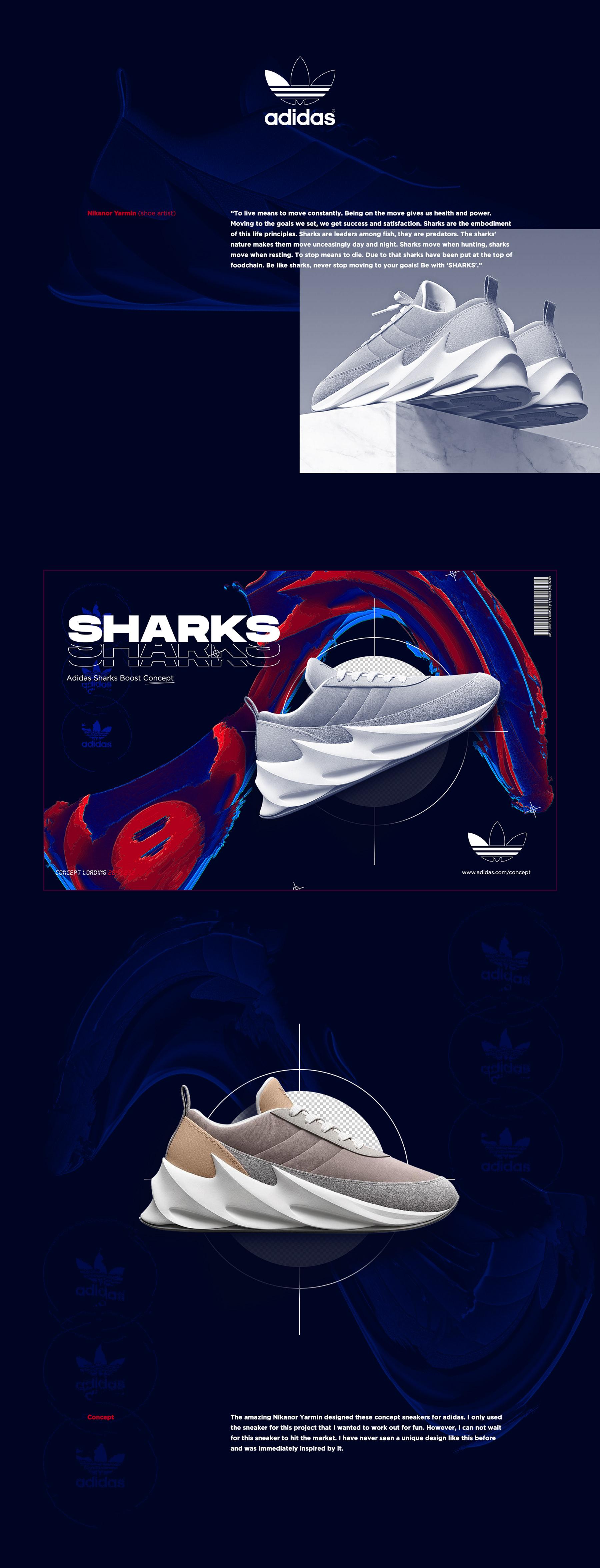 Luna Señor rumor  Adidas Sharks Boost Concept on Behance
