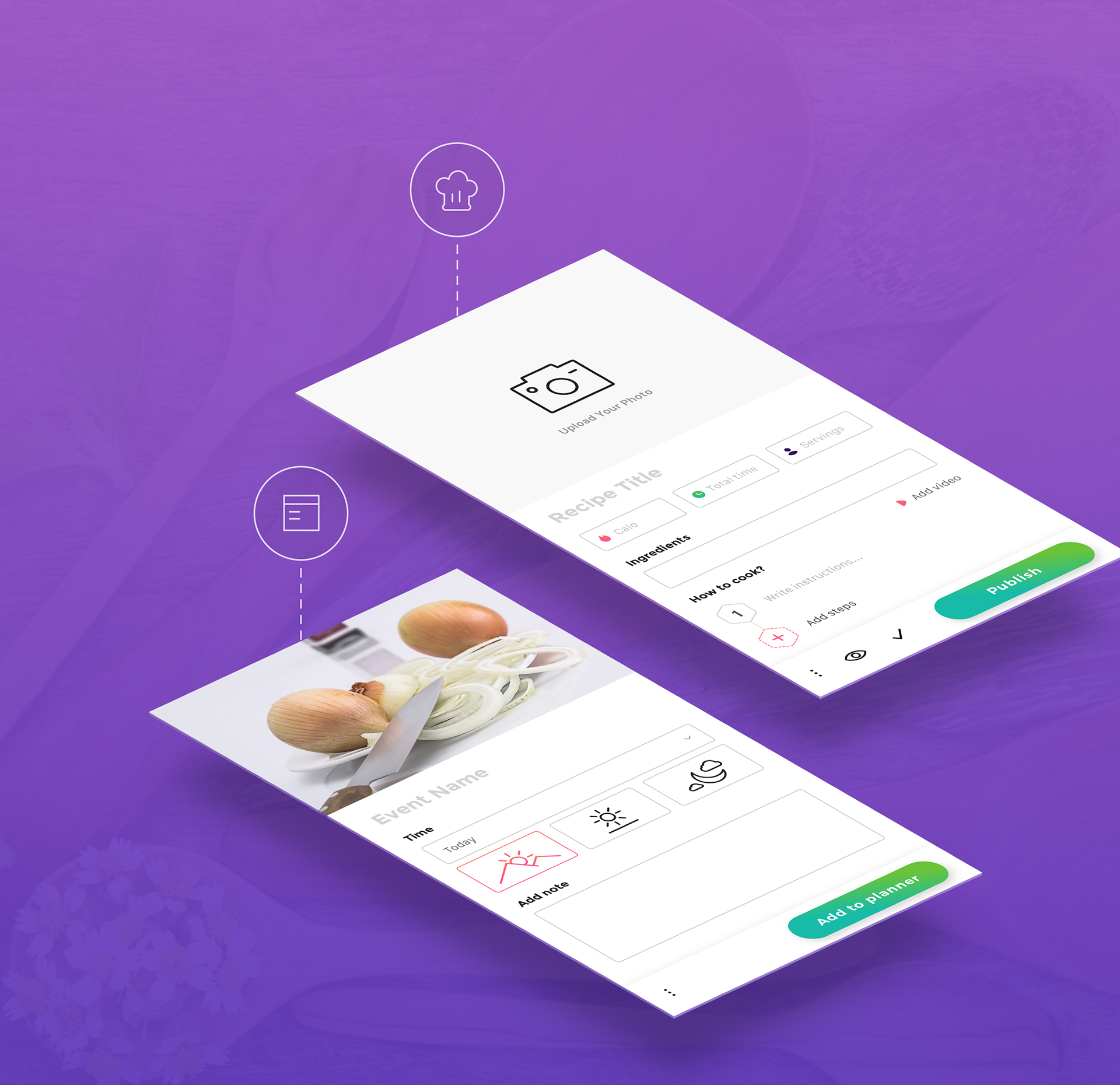 Interaction Design & UI/UX of the Ecook App Concept