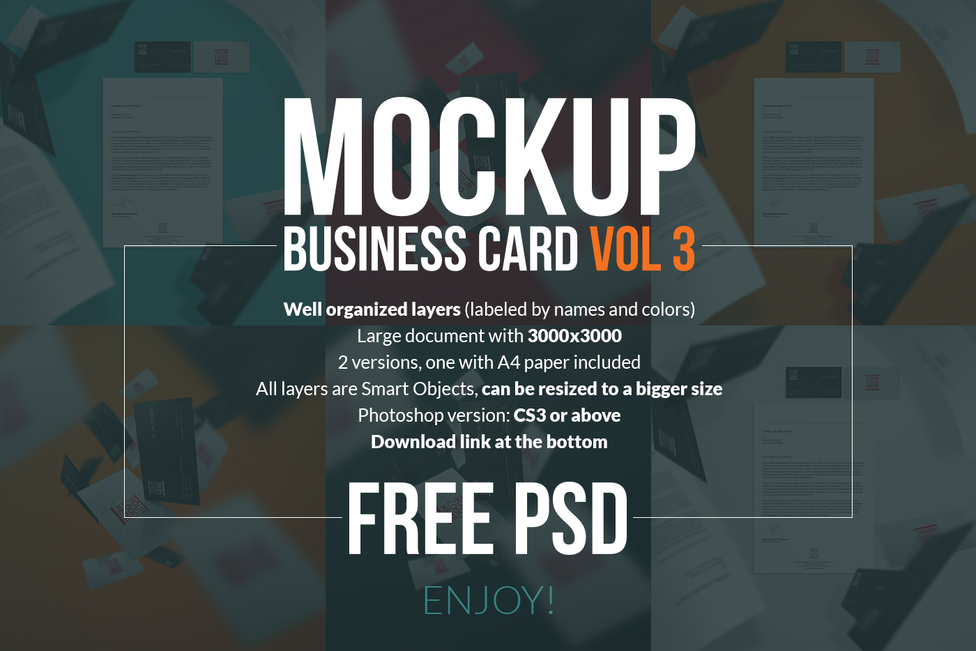 Free psd business card mockup volume 3 on behance help reheart Image collections