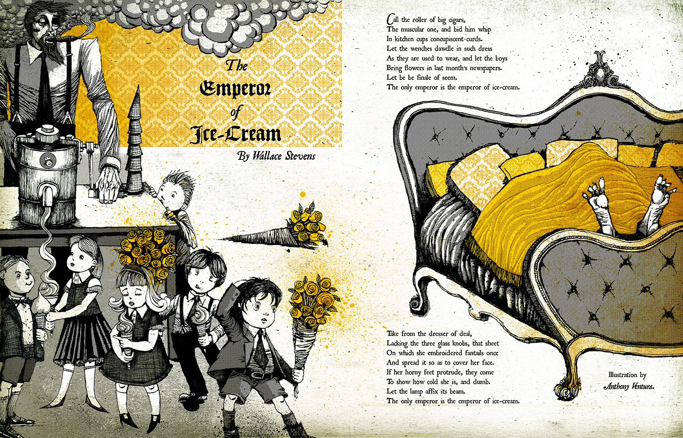 the use of repetition in the emperor of ice cream by wallace stevens