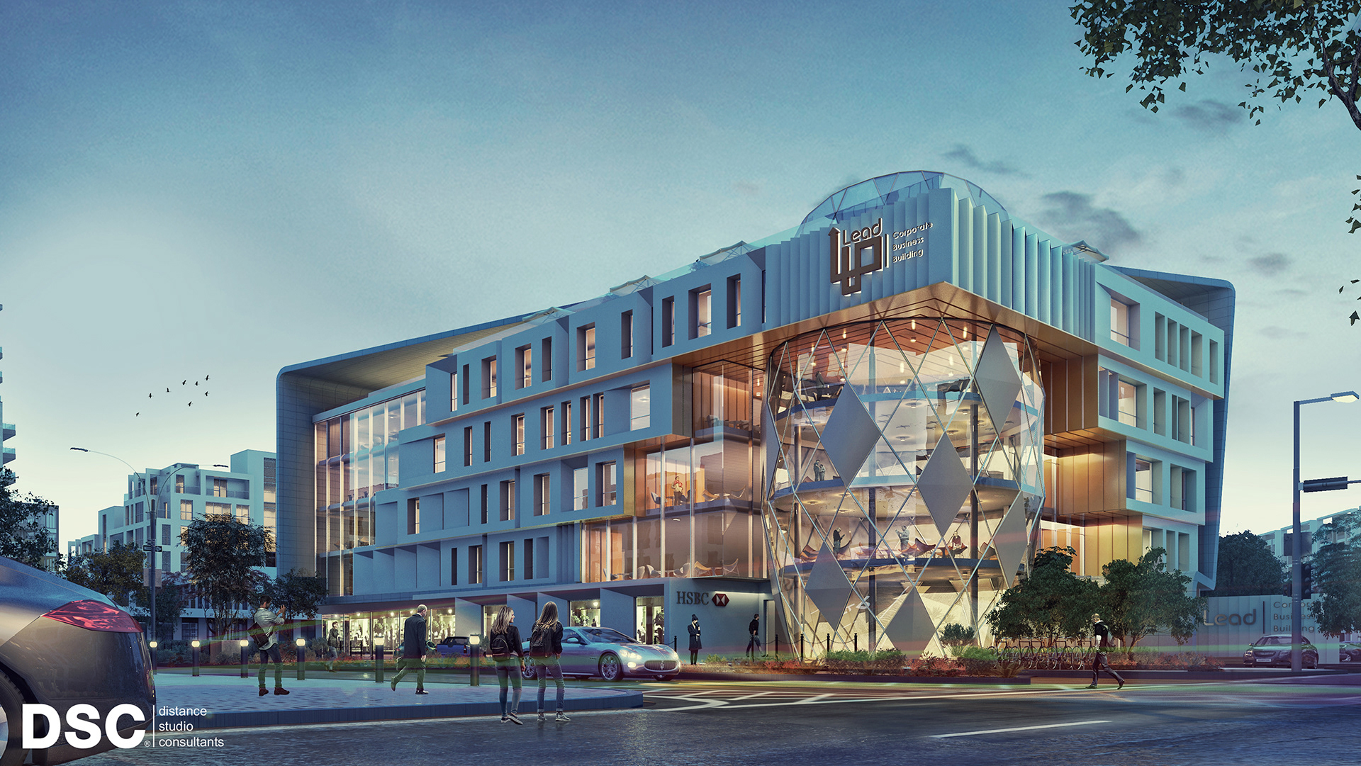 Maadi Office Building  Design & Visulaizations  on Behance