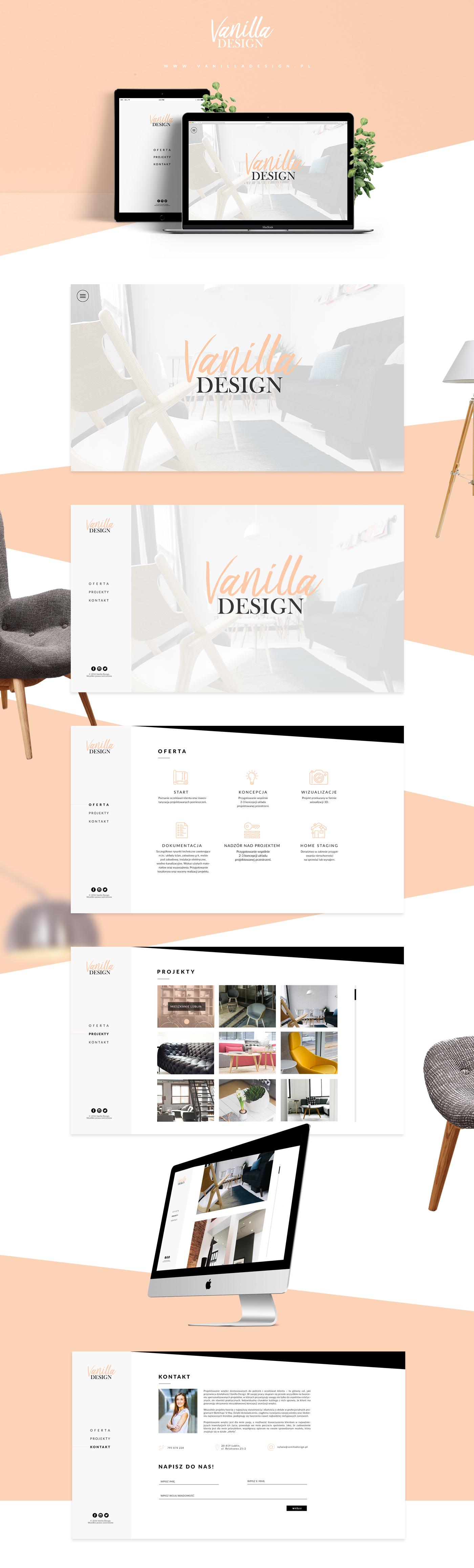 Vanilla Design Website On Behance