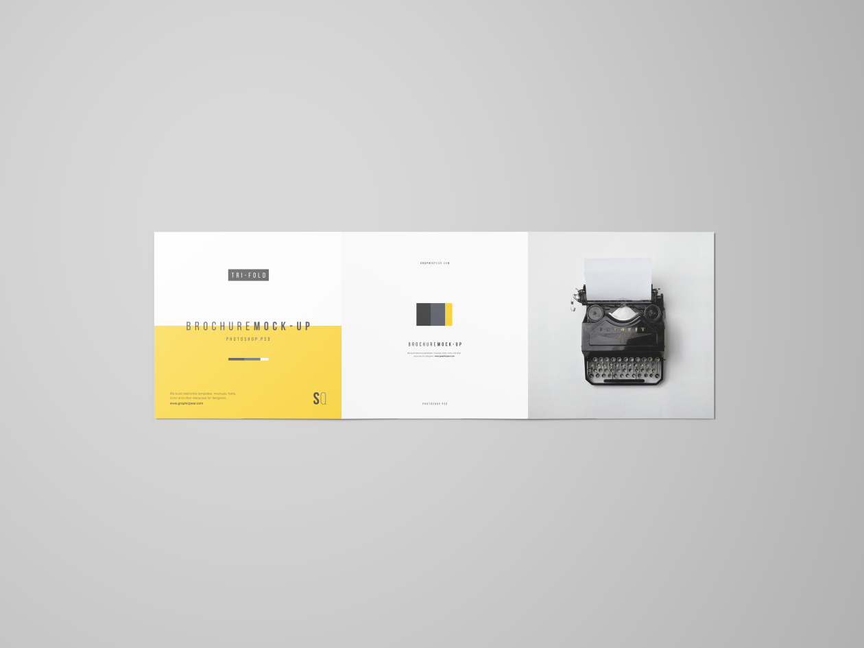 square trifold brochure mockup psd on behance