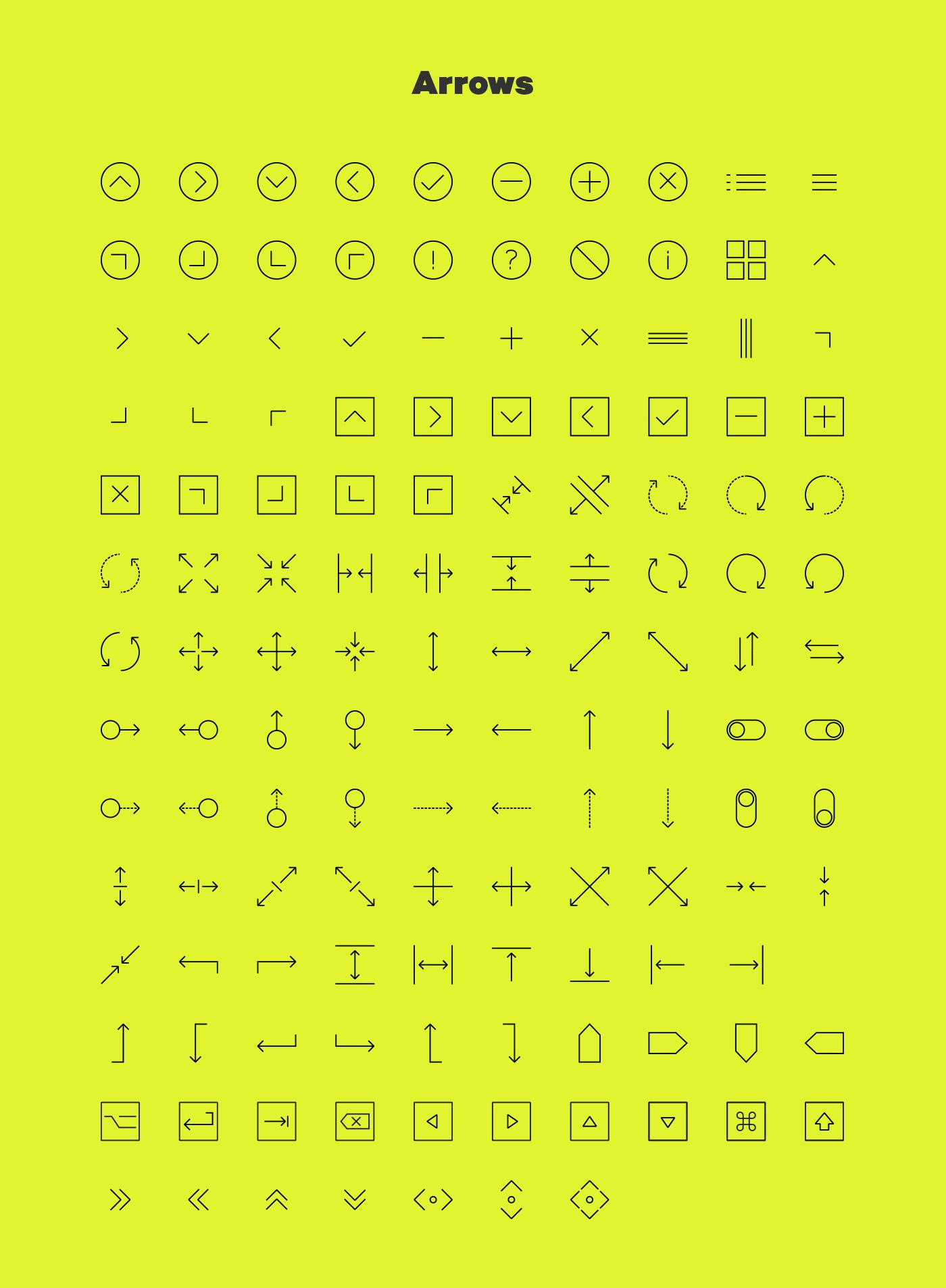 Linea Free Iconset on Behance