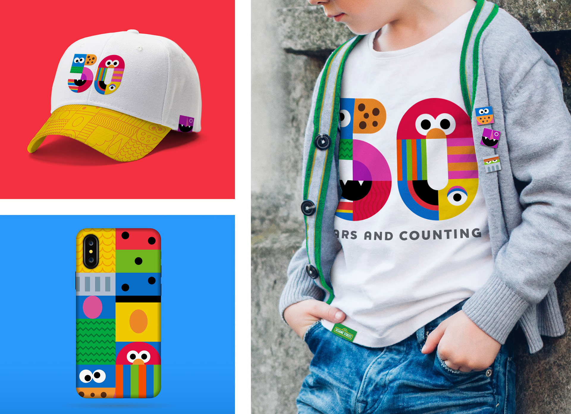 Sesame Street 50th Anniversary Branding on Behance