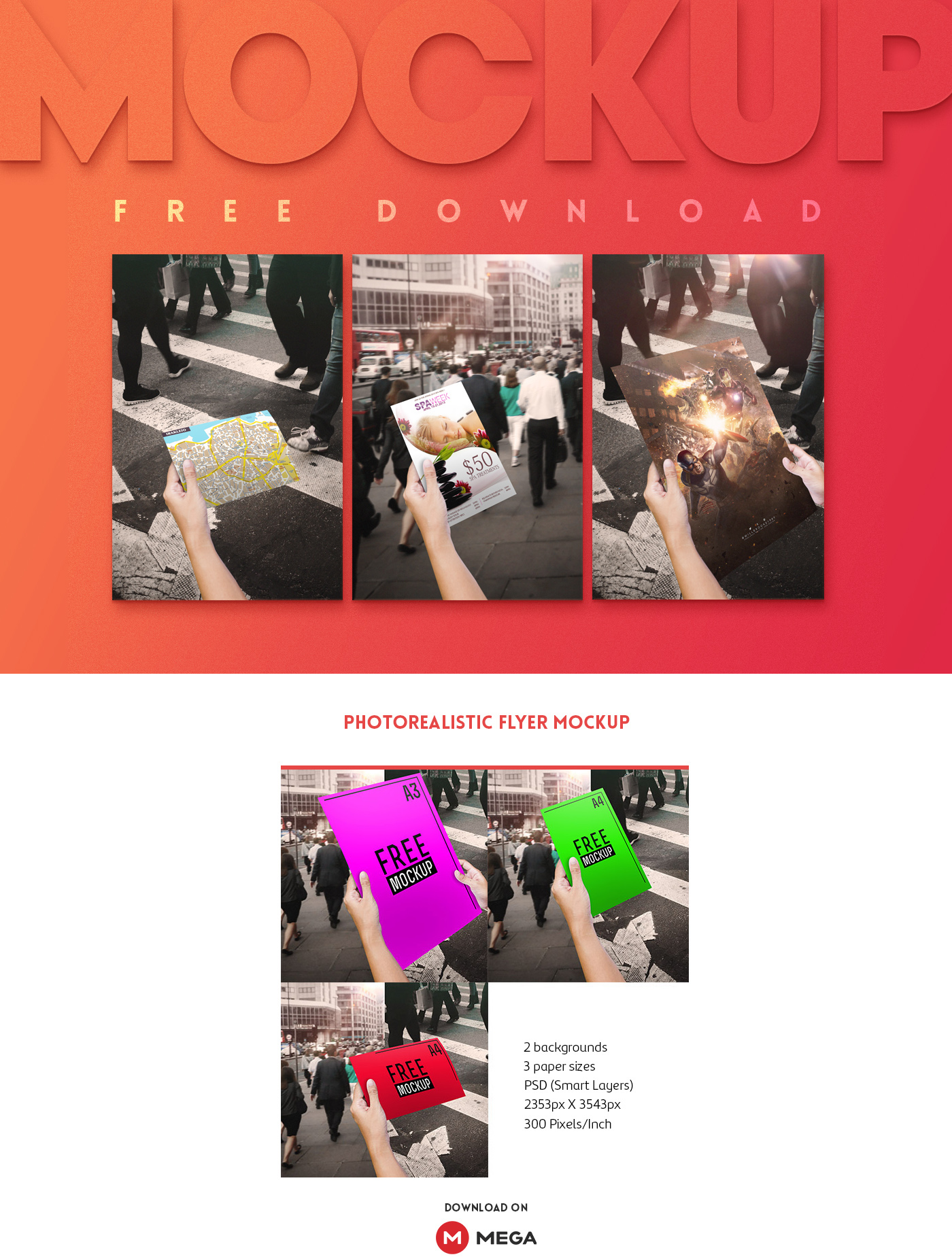 photorealistic flyer mockup free psd on behance