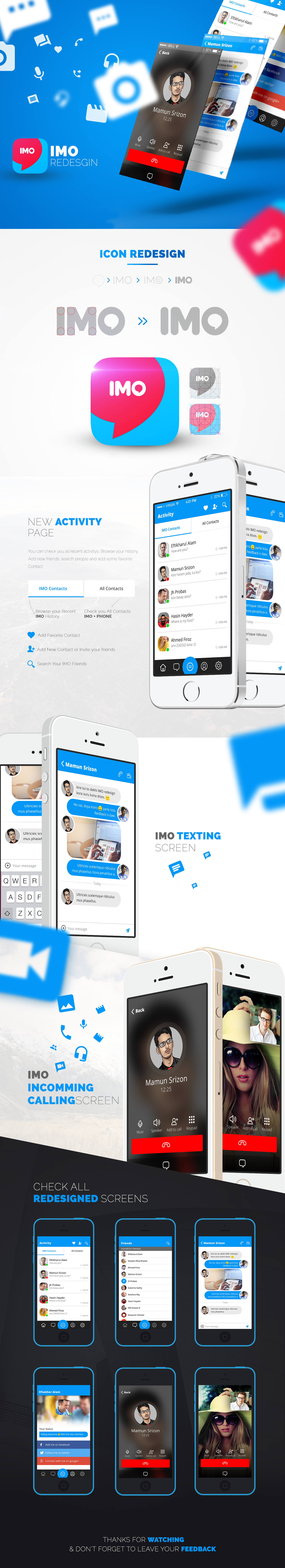 IMO Messenger Redesign on Behance