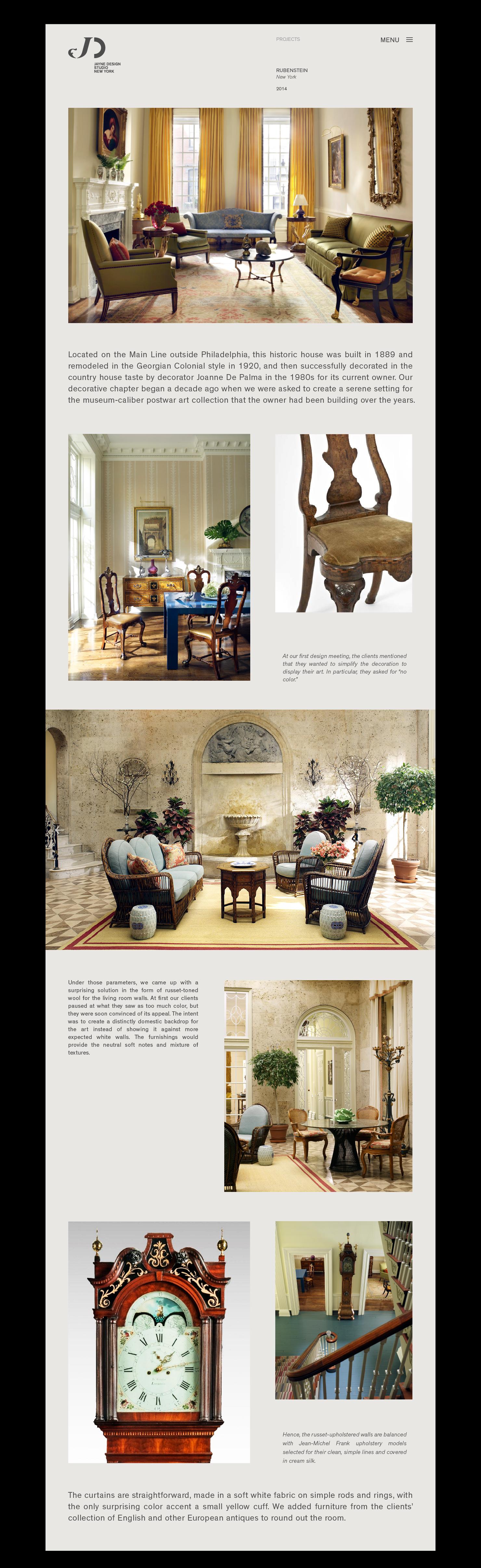 Jayne Design Studio Website On Behance