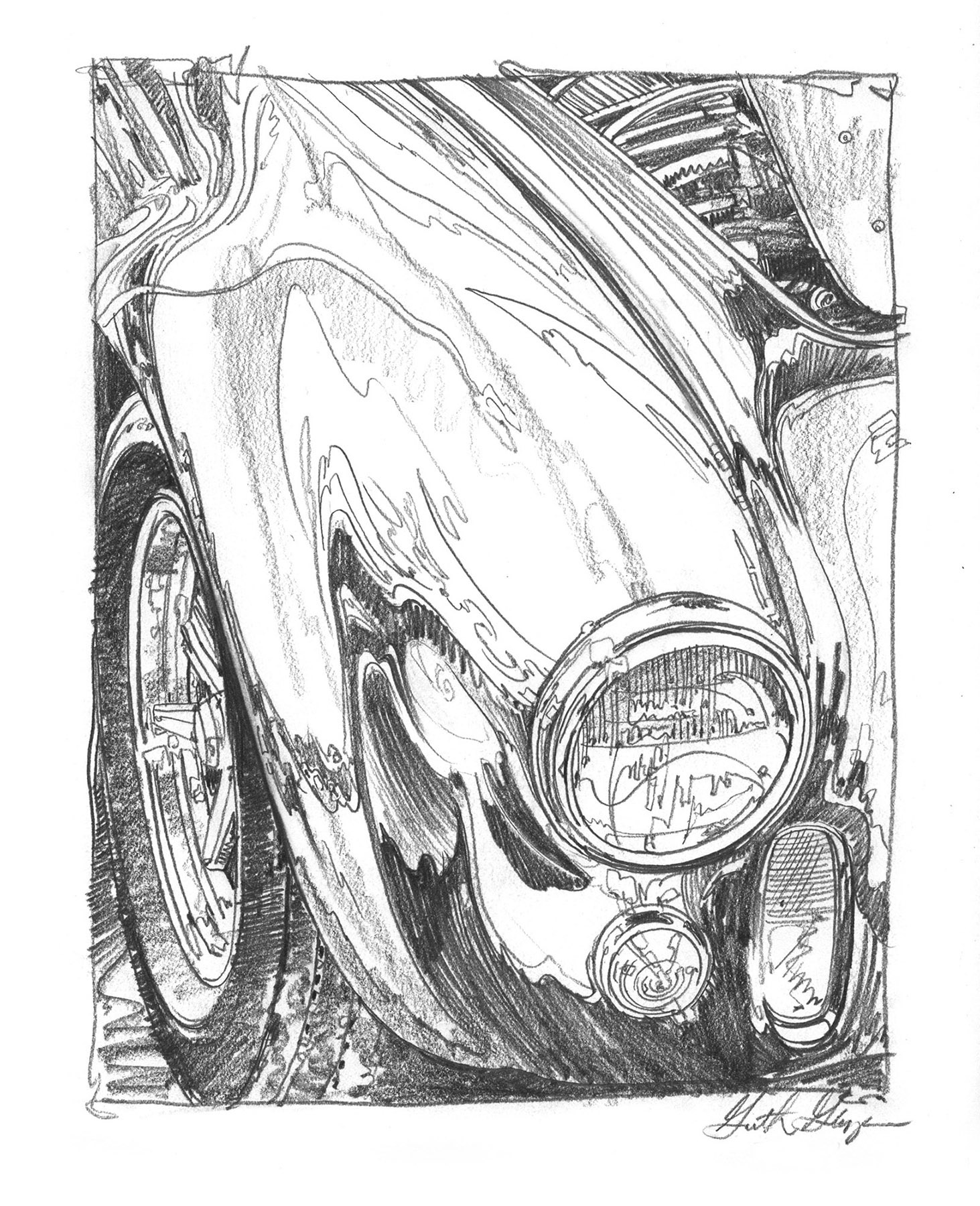 Garth Glazier - CLASSIC CAR DRAWINGS