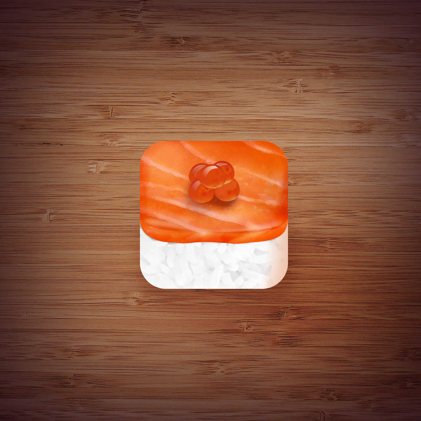 Lee Chin Wen - DailyUI day5- APP Icon Salmon Sushi with Fish Egg