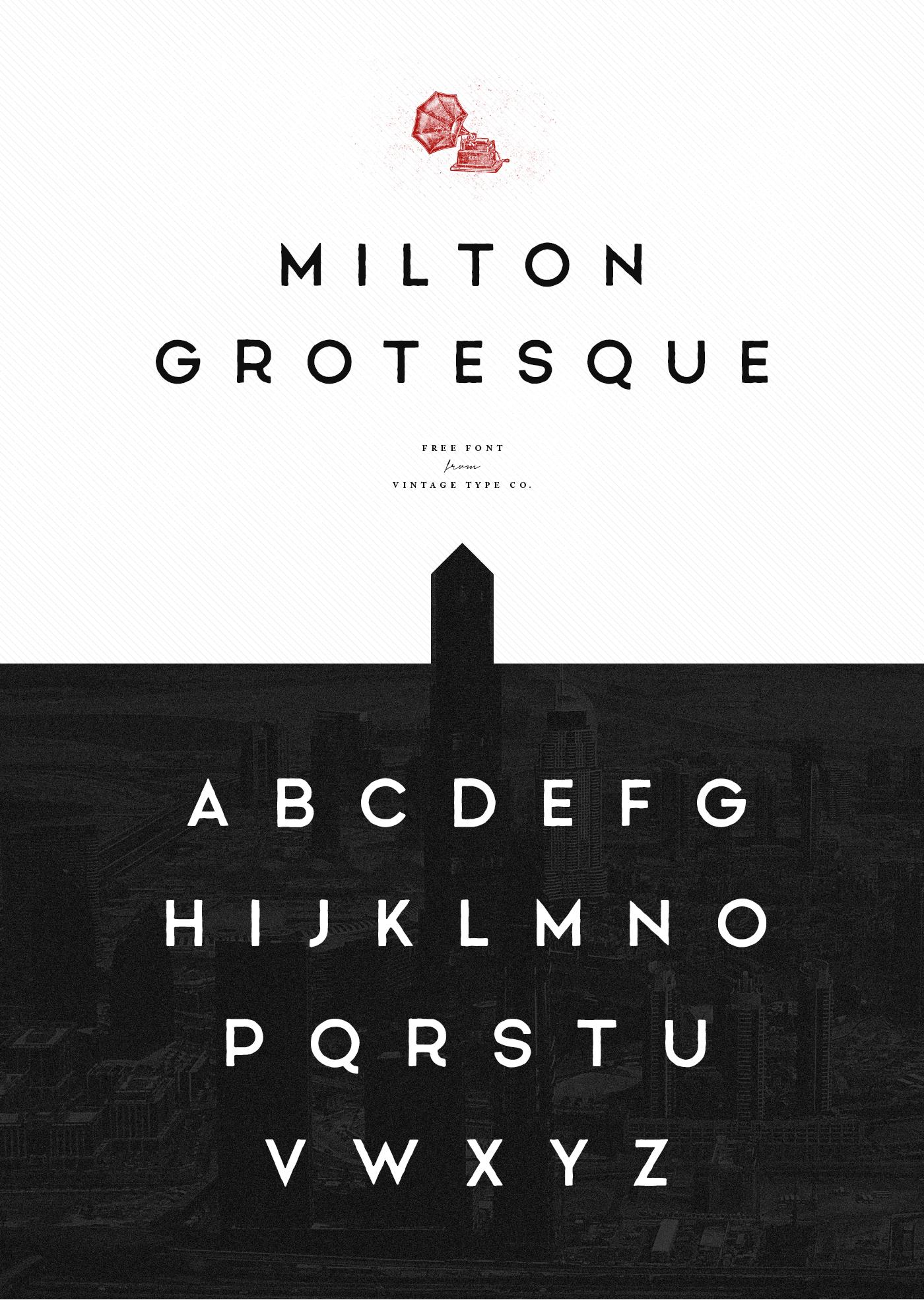Milton Grotesque FREE Font 2017 on Behance