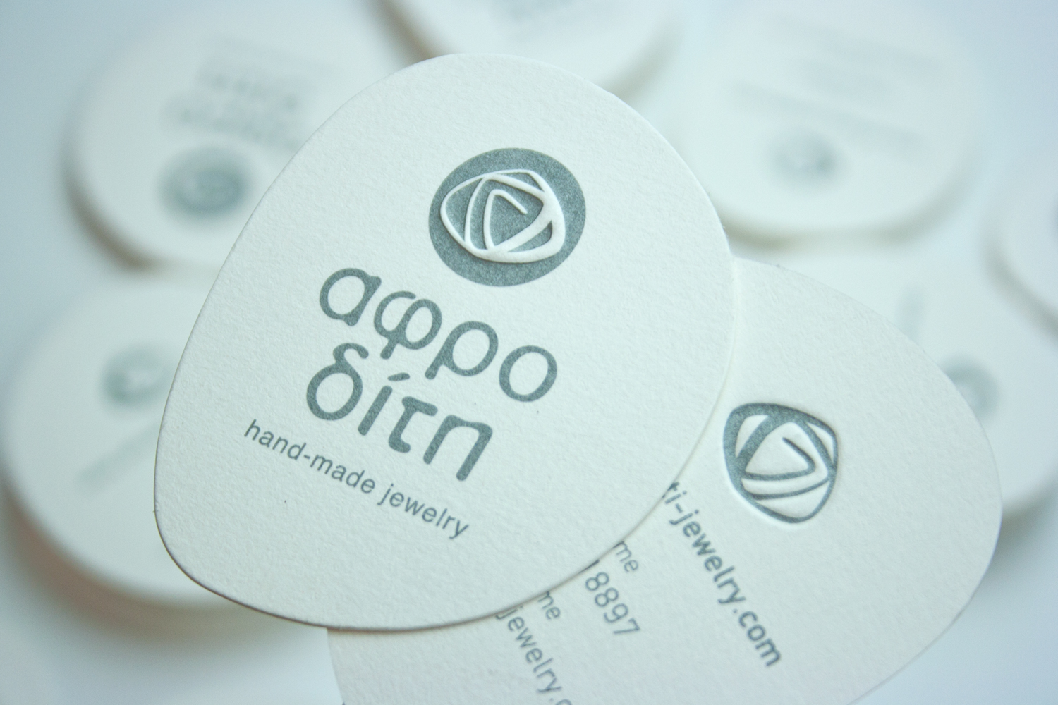 Aphrodite hand-made jewelry logo & business card on Behance