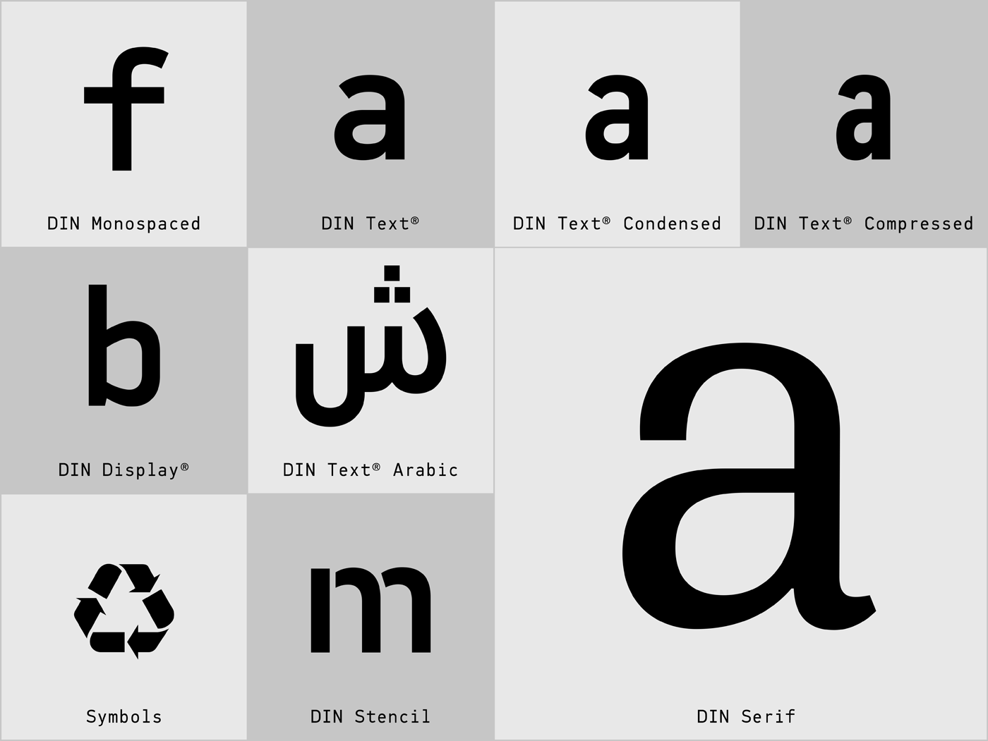 the din typeface superfamilies on behance