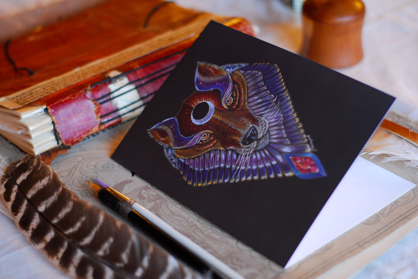 Greeting Cards of Wolf Totem available from my Etsy Store