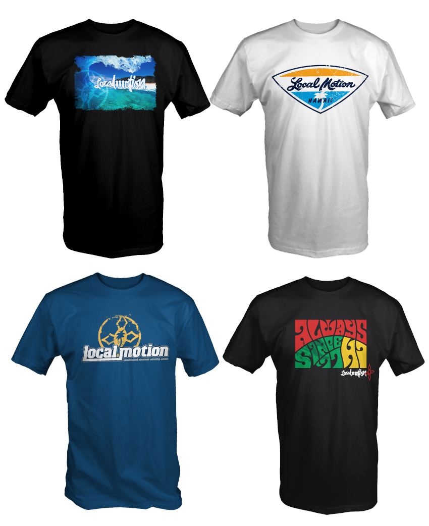 Local motion hawaii t shirts for Hawaiian design t shirts
