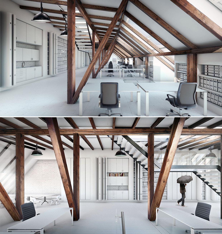Loft in aarhus office space for Loft office design