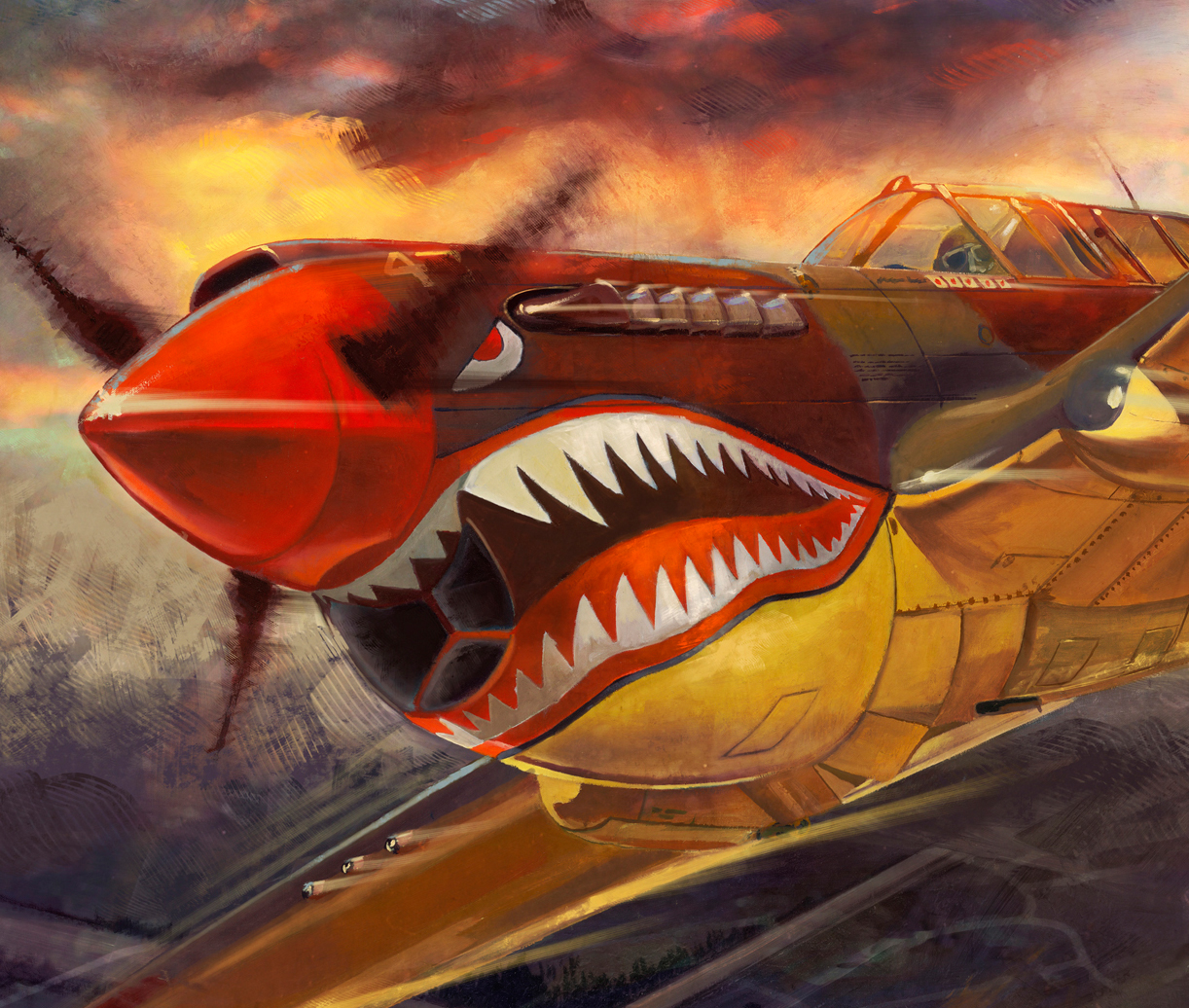 The gallery for --> P40 Flying Tiger