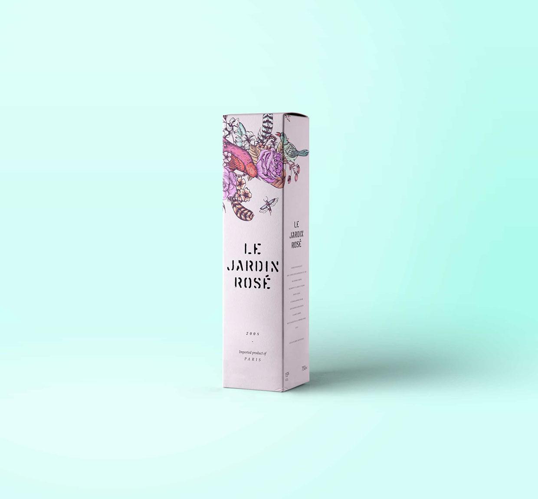 Le Jardin Tattoo Wine - Packaging