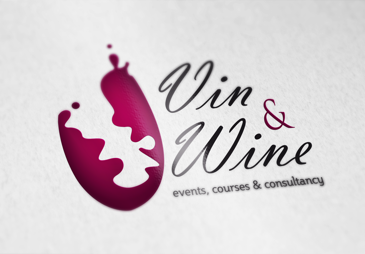 Vin and Wine logo by Gonzo Rivera
