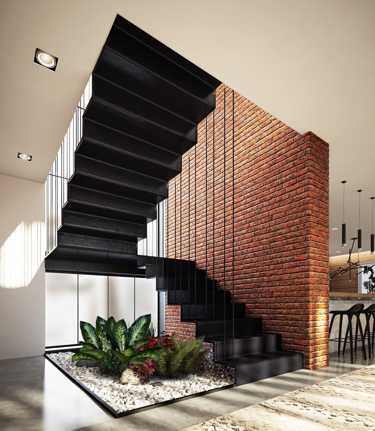 Jardins de inverno ou internos e 20 plantas ideais para ambientes fechados escalera bajos - Escaleras jardin ...