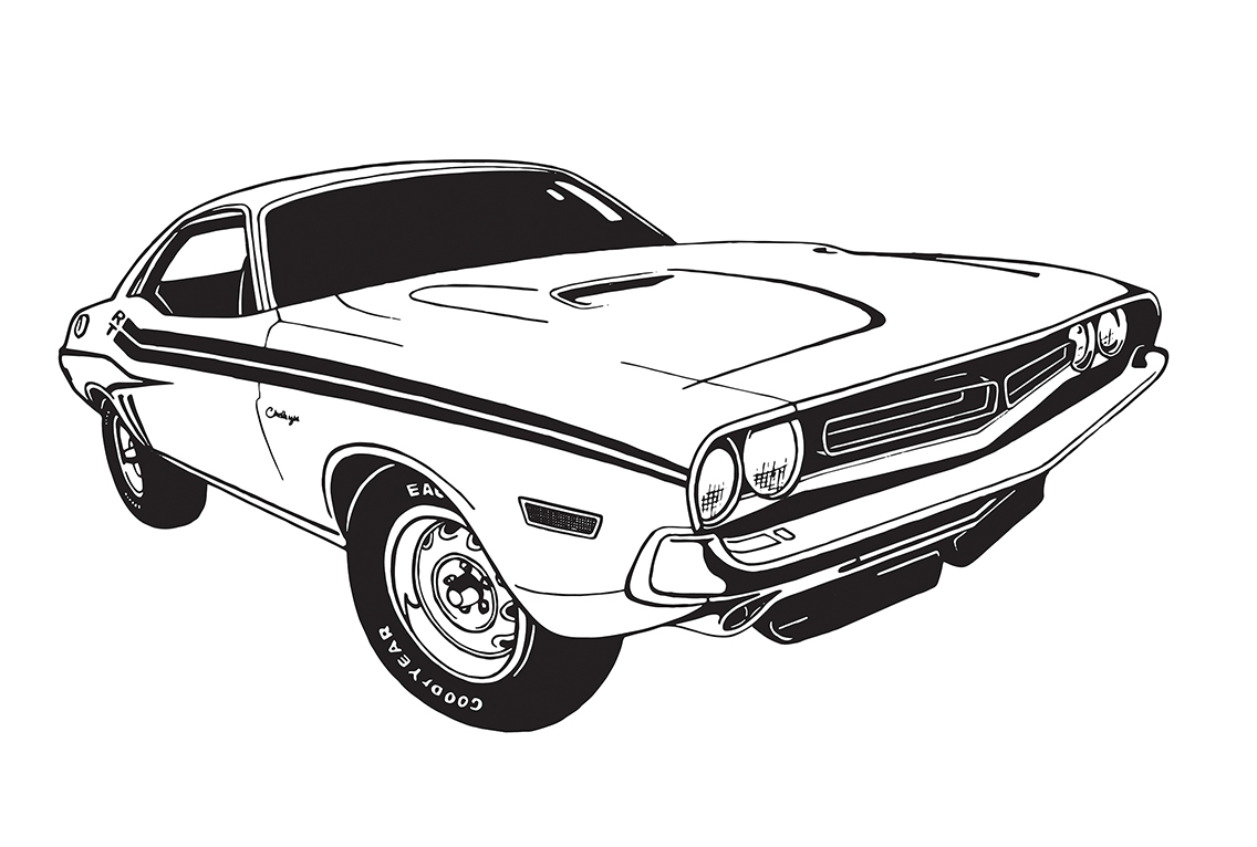 1968 dodge charger drawings