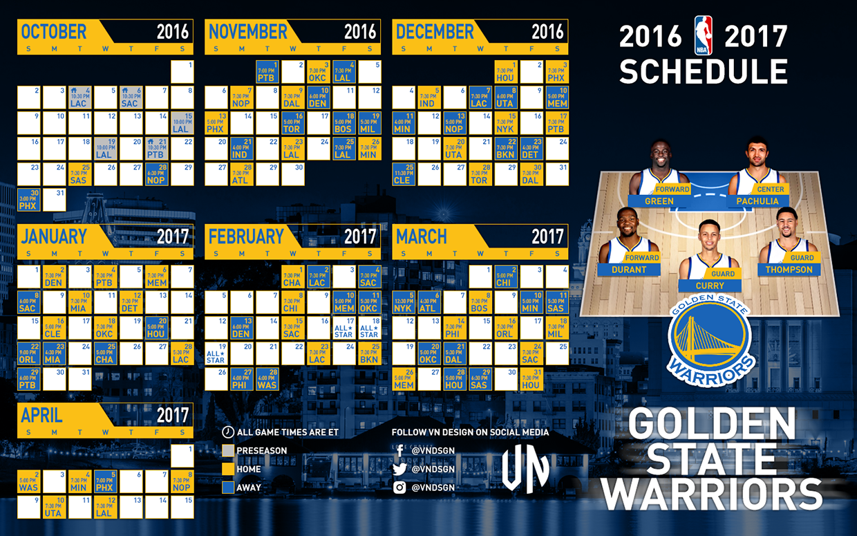 It's just a photo of Exhilarating Golden State Warriors Printable Schedule