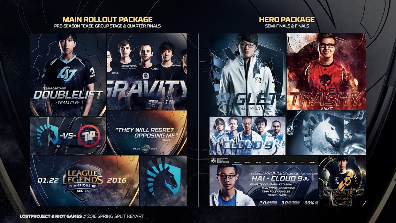 2016 League Of Legends Digital Keyart Campaign