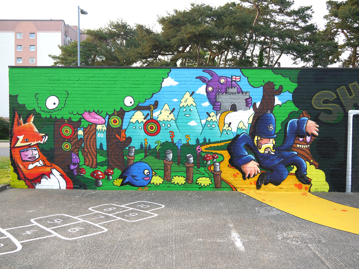 Interactive community mural for Community mural