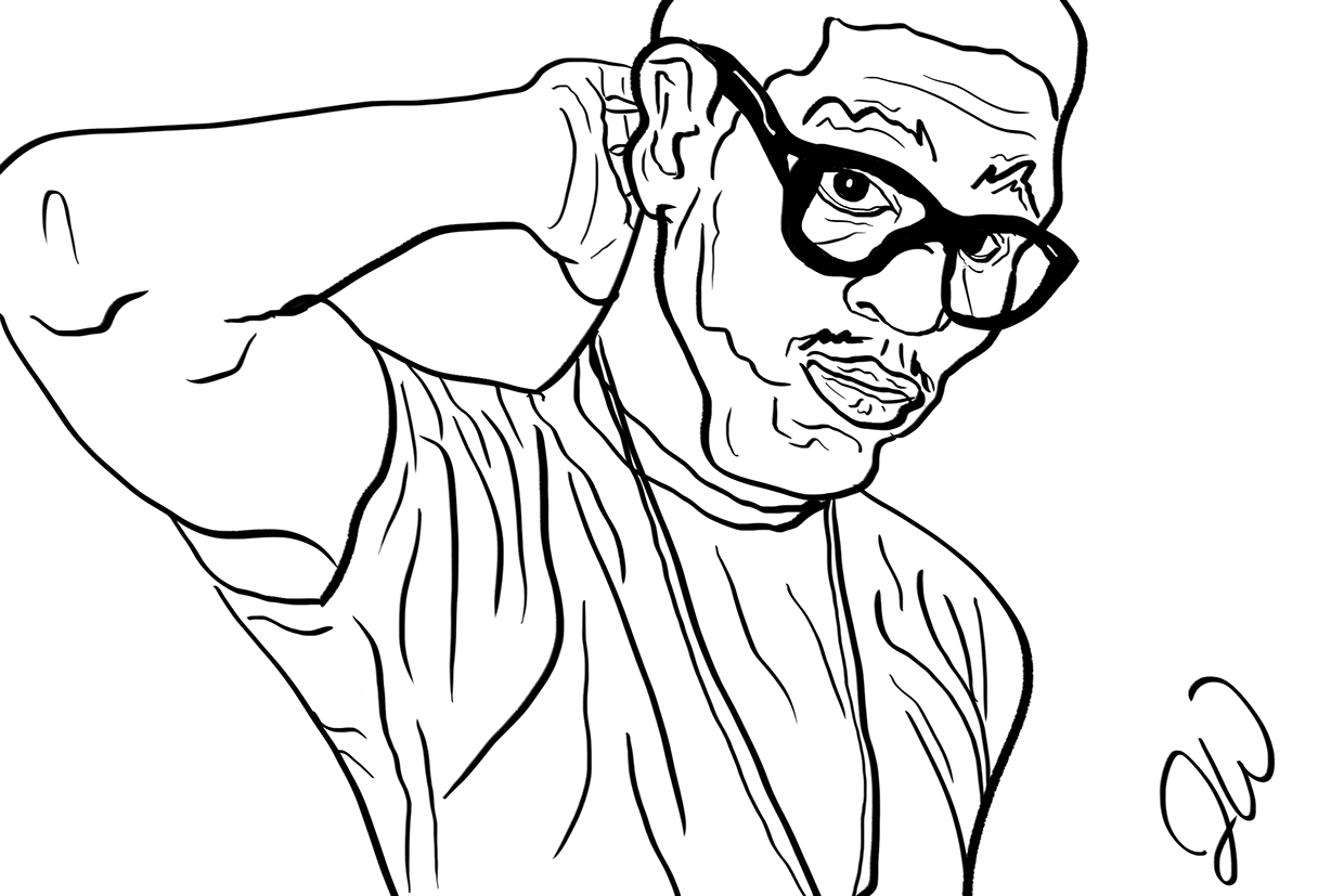 Kid Cudi Coloring Page Sketch