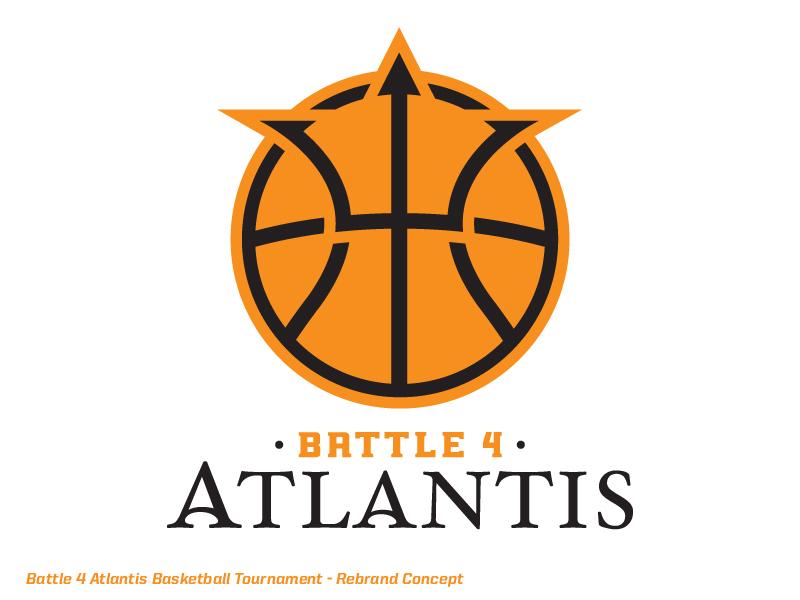 Battle 4 Atlantis Logo Battle 4 Atlantis Basketball