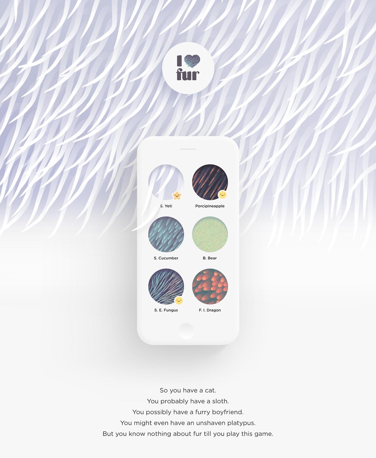 """""""I love fur"""" iOS Game Design"""