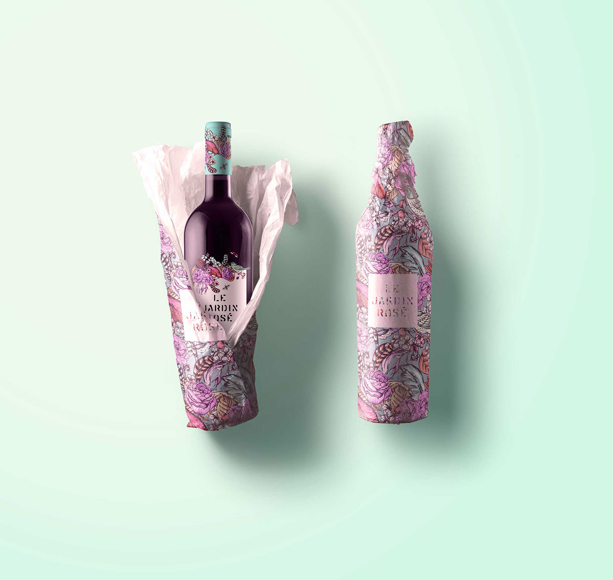 Le Jardin Tattoo Wine - Packaging