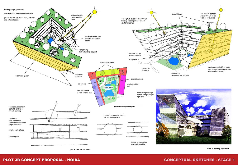 Conceptual design sheets for Architectural design concept sheet
