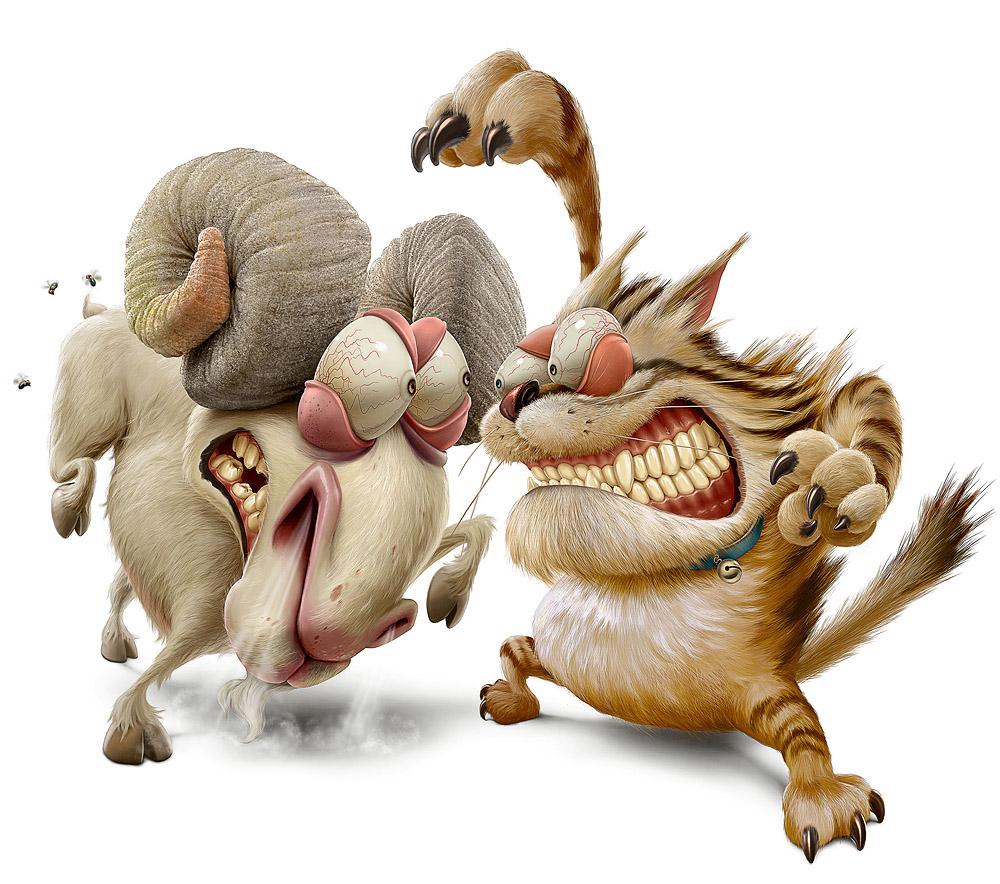 Animals chery Illustration Character Design par Ramos Oscar