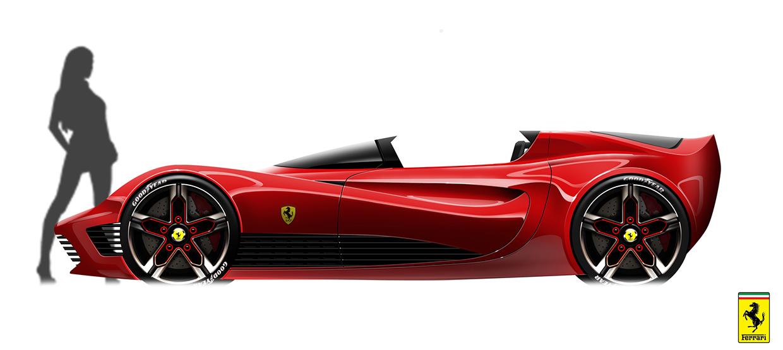 Ferrari Side View Drawings Ferrari Roadster Side View