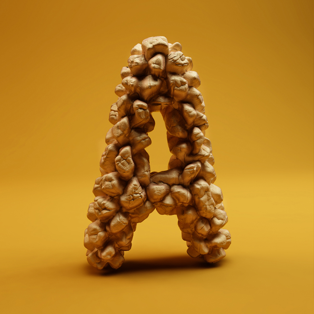 Crazy Sculpted Letters by FOREAL