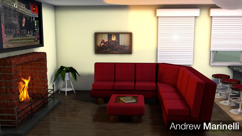 3D House Living Room