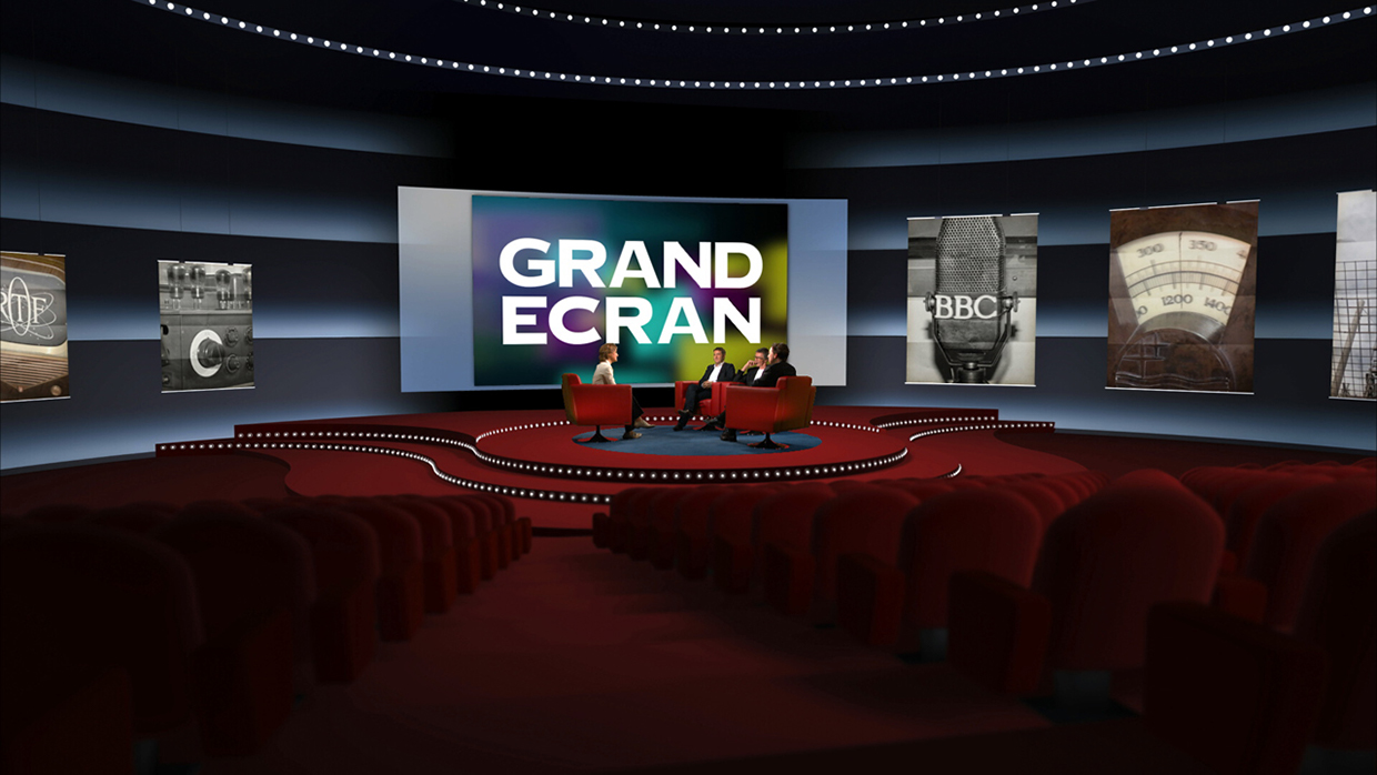u0026quot grand  u00c9cran 2014 u0026quot  lcp virtual set for prime tv show